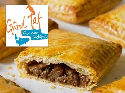 Pasty and Gwyl Taf logo - Greggs
