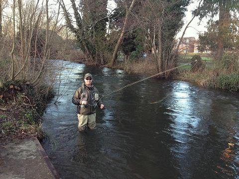 Urban fly fishing report river lambourn newbury for Millers river fly fishing