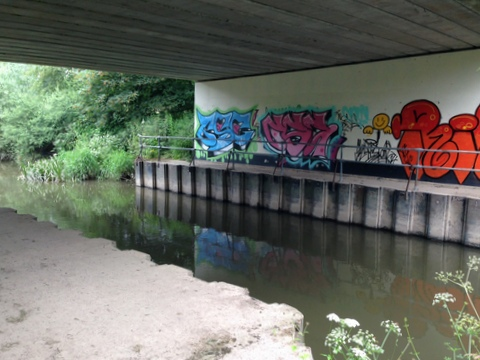 Rea Brook graffiti - Spencer Clayton