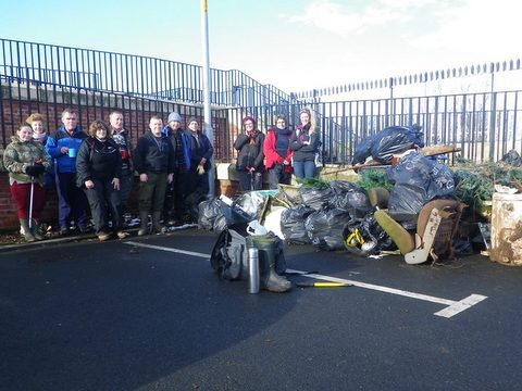 River Caldew Carlisle cleanup Jan 2015 - Eden Rivers Trust
