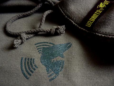 Urbantrout hyperstealth hoodie detail