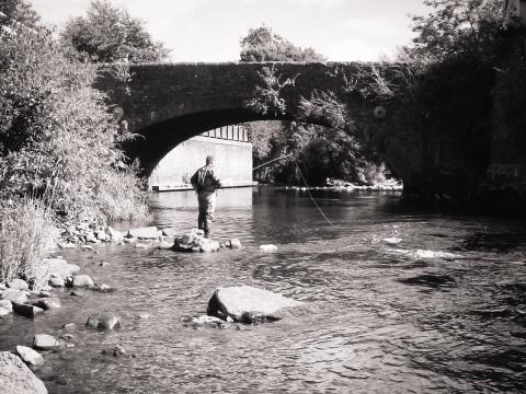 River Taff at Jacksons Bridge, Merthyr Tydfil - Lee Evans