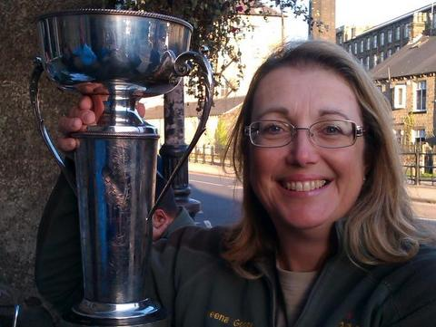 Sheena Goode with trophy - Mick Pogson